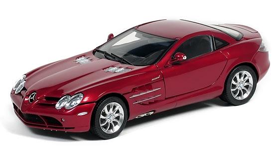 CMC Mercedes-Benz SLR McLaren, rot, Leder schwarz