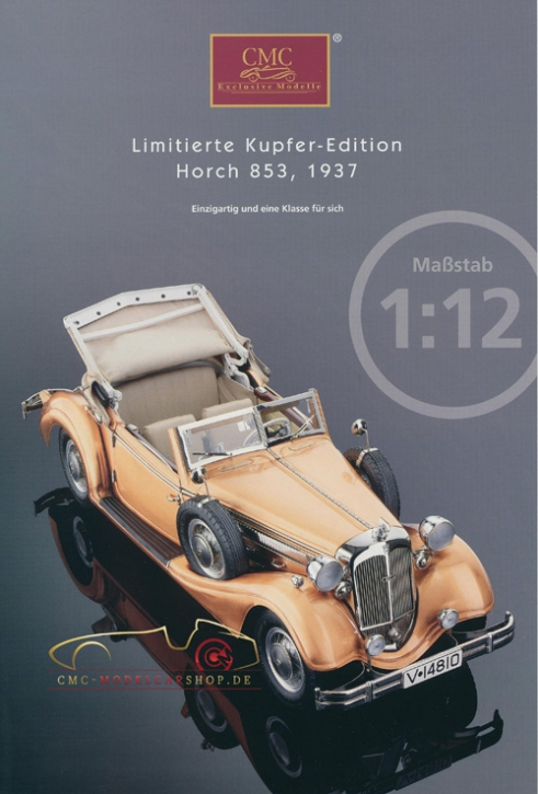 CMC Modell Prospekt Horch 853, 1937 Kupfer Edition