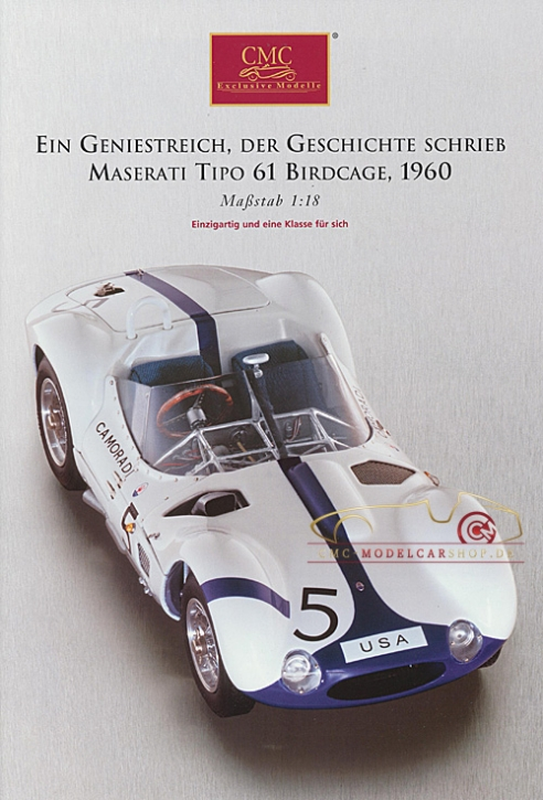 CMC model car brochure Maserati Tipo 61 Birdcage, 1960