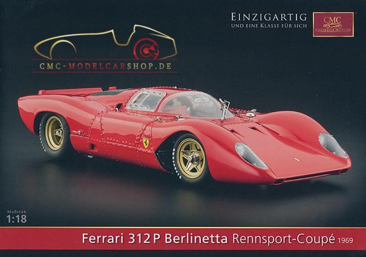 CMC Modell Prospekt Ferrari 312P Berlinetta Rennsport-Coupé