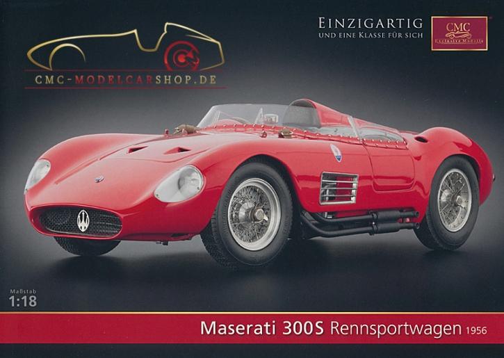 CMC Modell Prospekt Maserati 300S Rennsportwagen