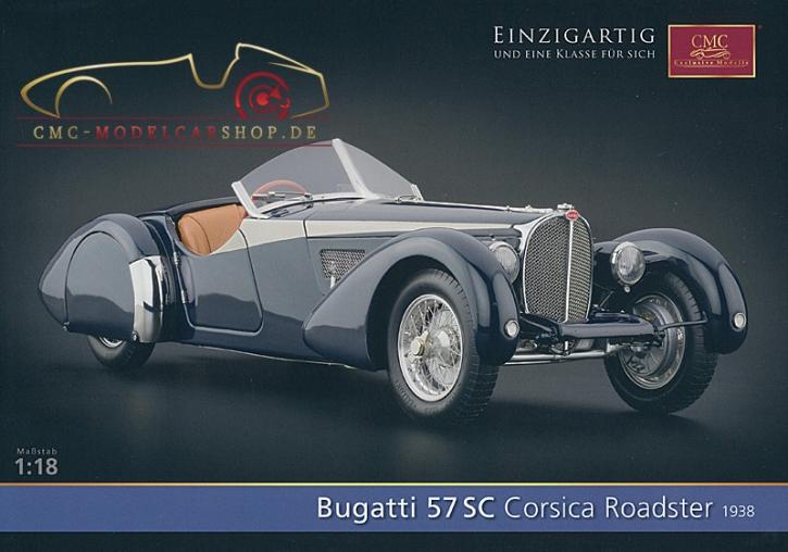 CMC Modell Prospekt Bugatti 57 SC Corsica Roadster