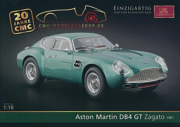 CMC modèles brochure Aston Martin DB4 GT Zagato