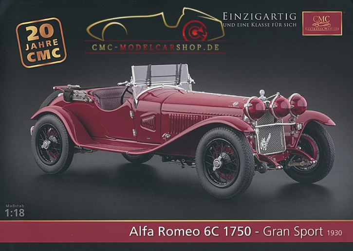 CMC Modell Prospekt Alfa Romeo 6C 1750 Gran Sport