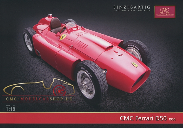 CMC model car brochure Ferrari D50