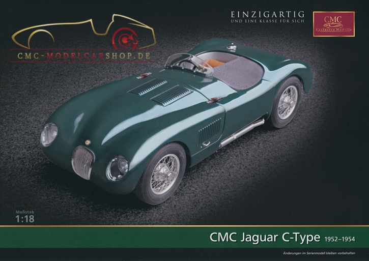 CMC model car brochure Jaguar C-Type
