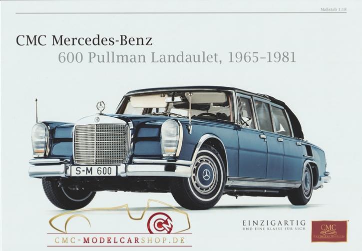 CMC Modell Prospekt Mercedes-Benz 600 Pullman Landaulet