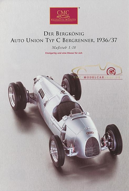CMC Modell Prospekt Auto Union Typ C Bergrenner