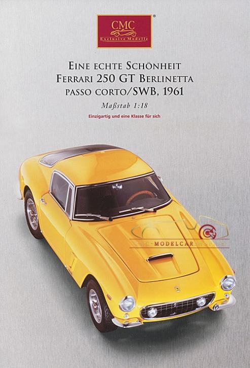 CMC modèles brochure Ferrari 250 GT Berlinetta, jaune,1961