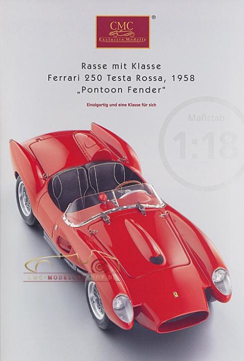 CMC Modell Prospekt Ferrari 250 Testa Rossa,1958