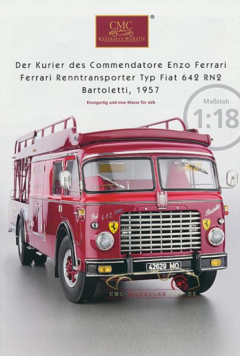 CMC modèles brochure camion Ferrari Typ Fiat 642 RN2