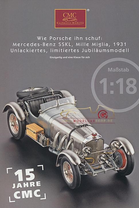 CMC Modell Prospekt Mercedes-Benz SSKL, Mille Miglia, 1931
