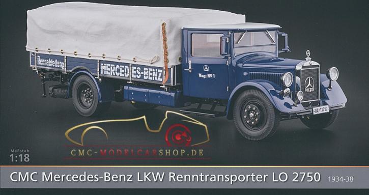 CMC Modell Prospekt Mercedes-Benz LKW Renntransporter LO 2750