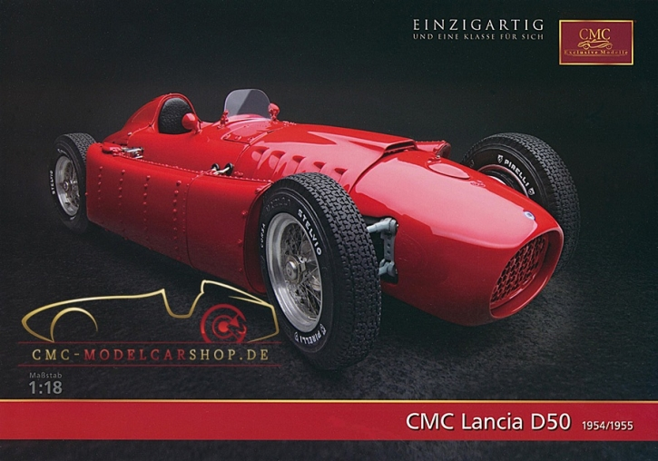 CMC model car brochure Lancia D50