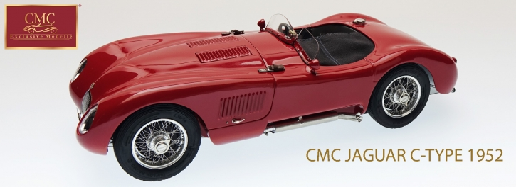 CMC Jaguar C-Type rouge