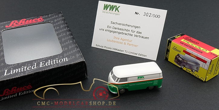 Schuco Piccolo VW T1 WWK Agentur Loubaresse & Partner