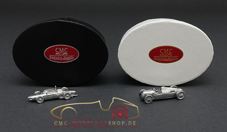 CMC Set Ferrari 156 F1 Sharknose + Auto Union Typ C, 15 Jahre CMC