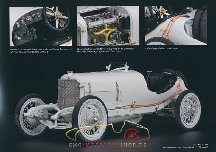 CMC model car brochure Mercedes-Benz Targa Florio
