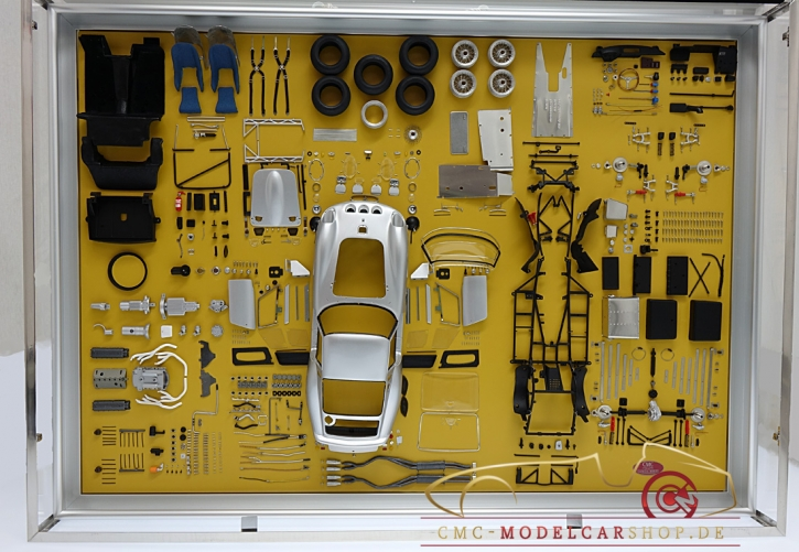 CMC Model Art Ferrari 250 GTO silver parts display board