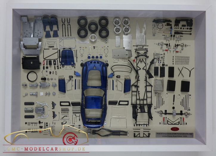 CMC Model Art Ferrari 250 GTO Blau Bauteile Display