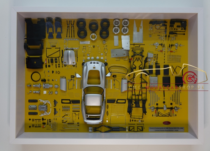 CMC Model Art Ferrari 250 GTO Argent Panneau d'affichage pièces