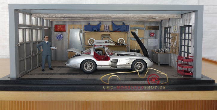 "CMC Diorama ""Rudolf Uhlenhaut"" Mercedes-Benz 300 SLR"