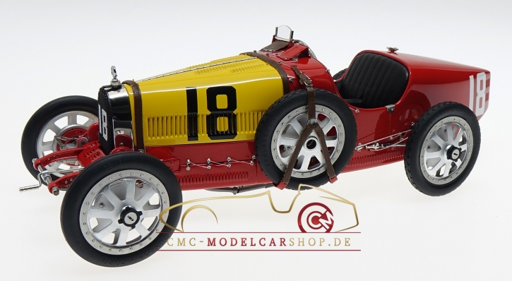 CMC Bugatti T35 GP Spain #18 red/yellow
