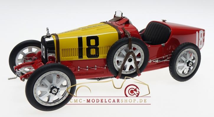 CMC Bugatti T35 GP Espagne #18 rouge/jaune