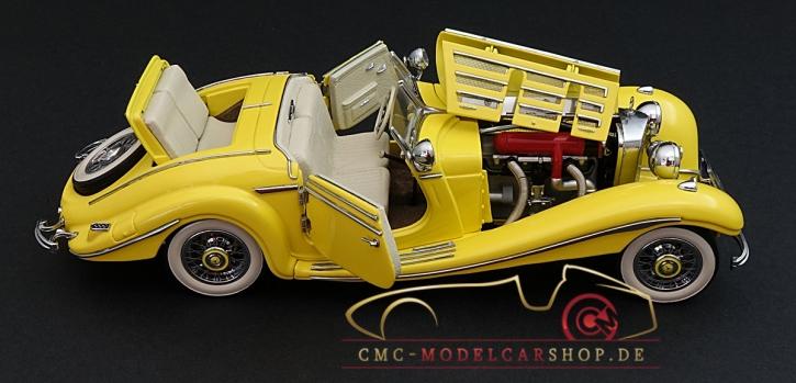 CMC Mercedes-Benz 500K gelb, Spezialroadster offen, 1936