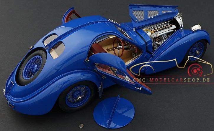CMC Bugatti Typ 57 SC Atlantic Coupé blau, 1938 Chassis-Nr. 57.591 (R.B. Pope)