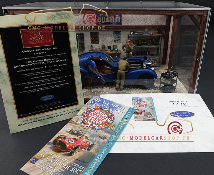 CMC Vintage Diorama Bugatti Typ 57 SC Atlantic, 6. Collectors Edition