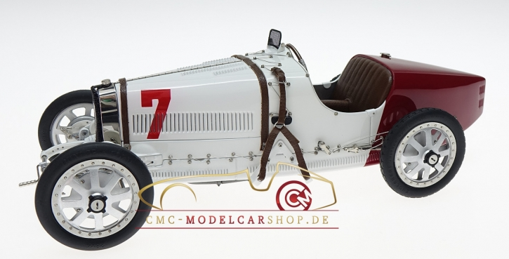CMC Bugatti T35 GP Poland #7 white/red