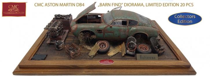 CMC Aston Martin Diorama Trouver dans une grange