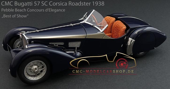 "CMC Bugatti 57 SC Corsica Roadster 1938, Pebble Beach Concours d'Elegance ""Best of Show"""