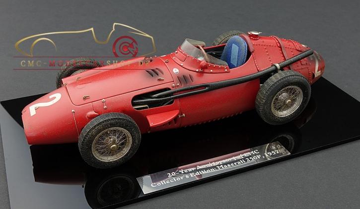 "CMC Maserati 250F #2 GP France 1957, ""DIRTY HERO ®"" Jubiläumsmodell 20 Jahre CMC"