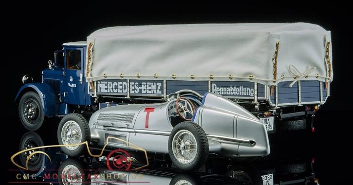 CMC Mercedes-Benz LKW Renntransporter LO 2750 + W25 T-Car Bundle