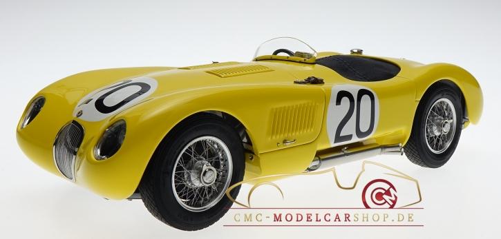 CMC Jaguar C-Type 1953 gelb Ecurie Francorchamps 24H Frankreich #20 Roger Laurent/Charles de Tornaco