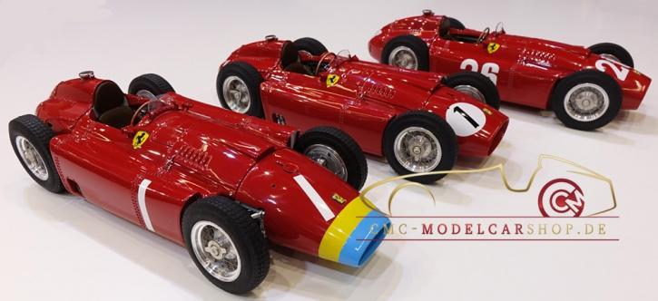 """CMC Lucky Set """"Fangio"""" Ferrari D50 long nose #1+Ferrari D50 short nose #1+Ferrari D50 #26"""