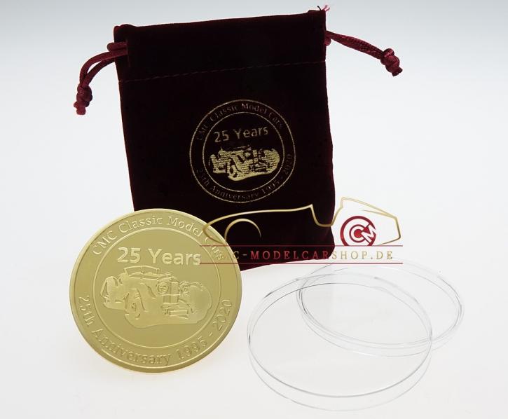 Münze Jubiläum 25 Jahre CMC vergoldet