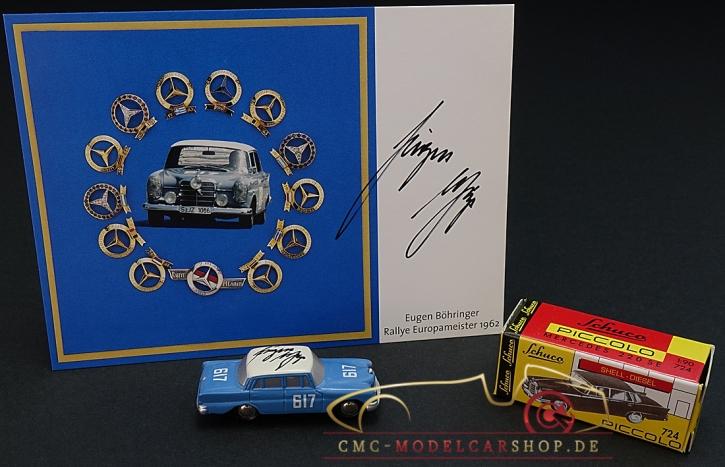 Schuco Piccolo Mercedes-Benz 300 SE, signiert Eugen Böhringer