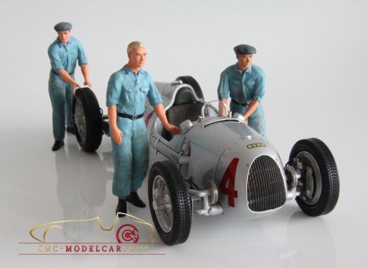Figutec Set 3 Auto Union Mechaniker Figuren 1:18
