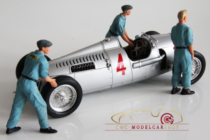 Figutec Set 3 Auto Union Mechaniker Figuren 1:18