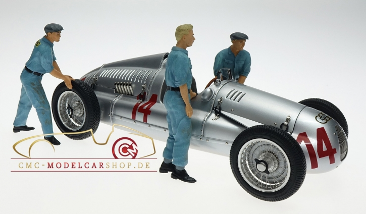 Figutec Set 3 Figures mechanics Auto-Union 1:18