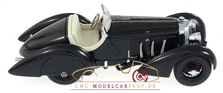 "CMC Mercedes SSK Trossi, 1932 ""Der Schwarze Prinz"", Innen Leder Weiss"