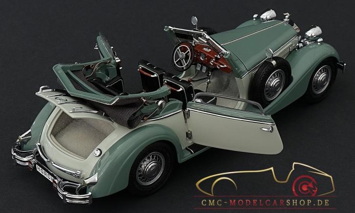 CMC Horch 853, offenes Cabriolet grün/dunkelgrün, 1937