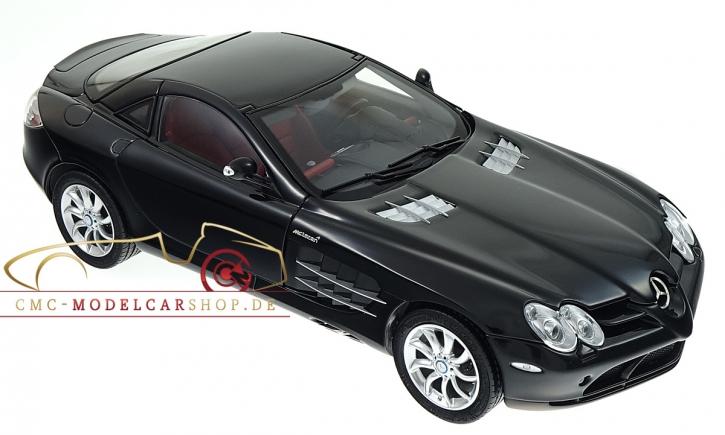 CMC Mercedes-Benz SLR McLaren, schwarz, Leder rot