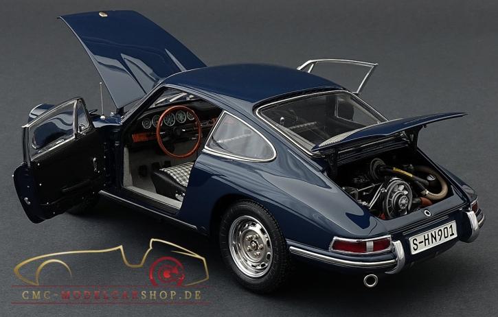 CMC Porsche 901 (Serie) 1964 baliblau, innen Leder schwarz