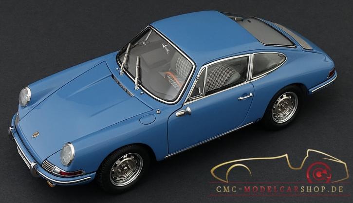 CMC Porsche 901 (Serie) 1964 emailbleu, l'interieur cuir gris