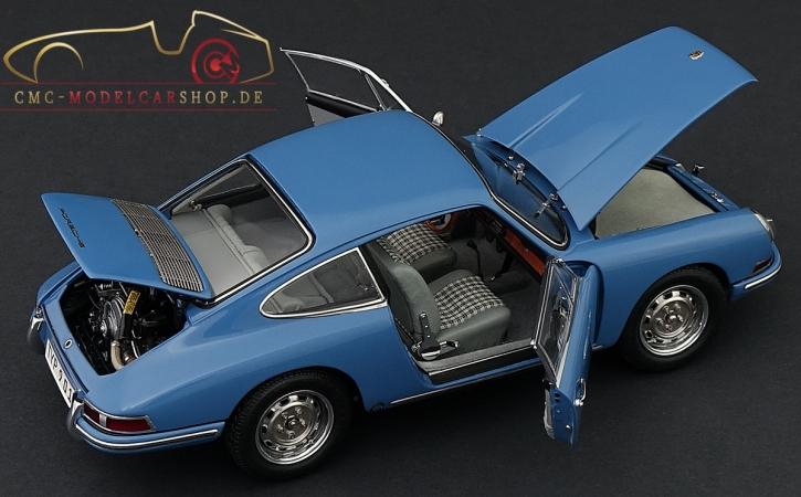CMC Porsche 901 (Serie) 1964 emailblau, innen Leder grau