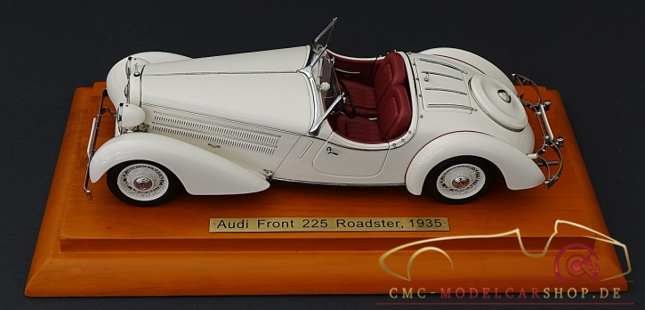 "CMC Audi Front 225 Roadster, 1935, white, red leather, anniversary model ""100 Years of Audi"", special edition 50 pieces"